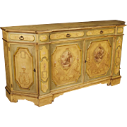 20th Century Venetian Sideboard With Floral Decorations
