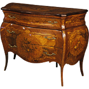 20th Century Italian Inlaid Dresser In Wood In Louis XVI Style With 3 Drawers
