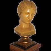 French Wax Head, Elegant French Woman Wax Sculpture