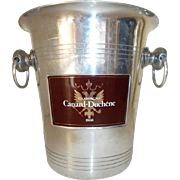 Champagne Canard Duchene Ice Bucket. Vintage French Champagne Bucket, ice bucket, wine cooler Maroon Label 1970's