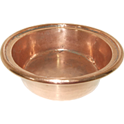 Fabulous Antique French Copper Basin, Artisan Made Copper Sink