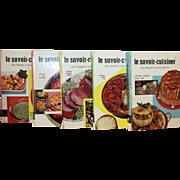 Set of 5 Vintage French Recipe Books 1957 - 1959. Le Savoir-Cuisiner des Femmes D'Aujourd'hui