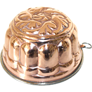 French Copper Jelly Mold. Lined and usable 'Moule a gateau' en cuivre.