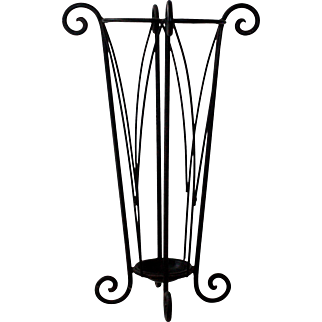Umbrella Stand, Stick Stand, Wrought Iron. Vintage French