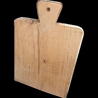 French hand cut Solid Wood Bread Board, Cutting Board, Chopping Board. Lovely