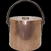 Antique French Copper Confit Stock pot, Marmite, Daubiere, Faitout. Artisan Made Copper Pan, Steel Handle