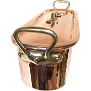 Quality MADE IN FRANCE by Cuiverie Cerdon Solid Copper Fish Kettle with Bronze Handles. Fish Kettle Poacher & Tray. Tin Lined
