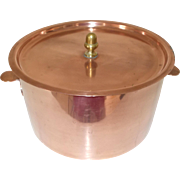 French copper Charlotte Tin Mould with Lid. 18cm  circa. early 20th century