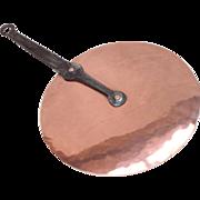 "French Copper Saucepan Lid. Wrought Iron Handle. Splash Lid 25.5cm 10"""