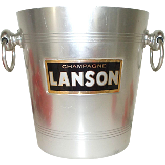 Lanson Champagne Bucket, Ice Bucket, Wine cooler Vintage French