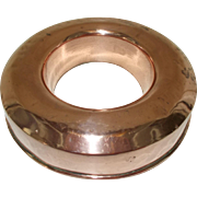 Copper Savarin Mould. Vintage French Copper Baking Mold. Round Cake Tin.