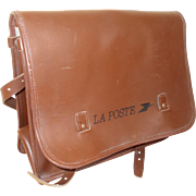 Vintage French LaPoste Post Office Post-mans Delivery Satchel. Thick Leather Bag, 1985. Ideal for Notebooks, Documents or Weekend Bag