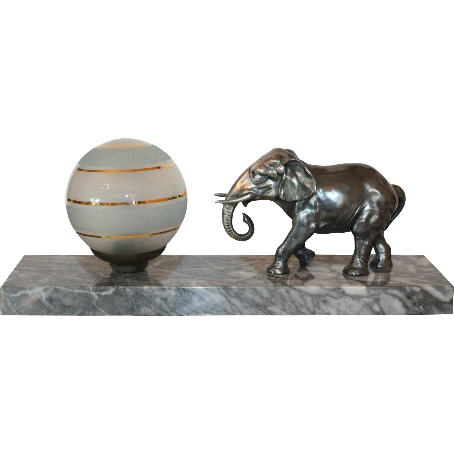 french art deco elephant table lamp from department18 on. Black Bedroom Furniture Sets. Home Design Ideas