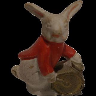 Antique Bisque Bunny Rabbit Band Member Cake Decoration
