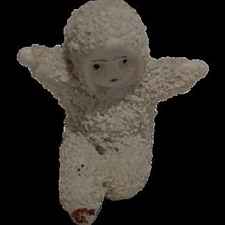 Antique Little Bisque German Snow Baby