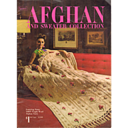 Knit and Crochet Book Sears Afghan and Sweater Collection Pattern Craft Book 1968