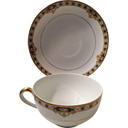 """Noritake """"The Ceylon""""  Cup and Saucer"""