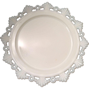 Westmoreland Ring and Petal Milk Glass Salad Plate 8-1/4""