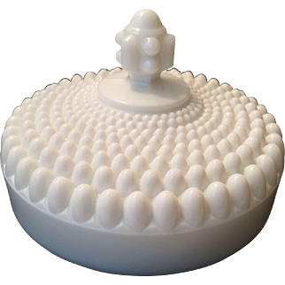 Westmoreland Milk Glass American Hobnail Butter Dish Lid only