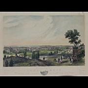 """""""Album of New England Scenery Lynn Massachusetts 2"""" Bachelder, John Badger Hand Colored Lithograph Print"""