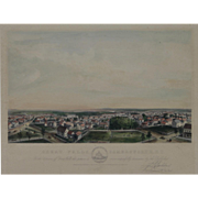 """""""Album of New England Scenery Somersworth New Hampshire"""" A  Bachelder, John Badger Hand Colored Lithograph Print"""