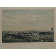 """""""Album of New England Scenery Pittsfield New Hampshire"""" A Bachelder, John Badger Hand Colored Lithograph Print"""