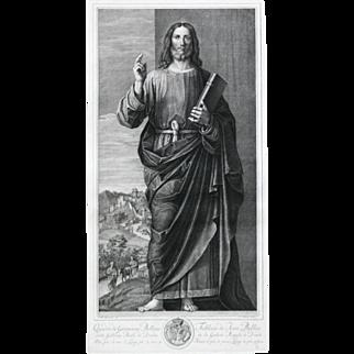 """""""Tableau de Jean Bellin de la Galene Royale de Dresde"""" Engraving by Artist Bellini, Giovanni"""