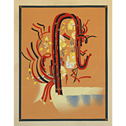 Art Deco Style Japanese Woodblock Print