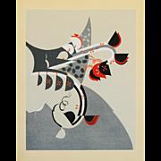 Art Deco Style Japanese Woodblock Print 2