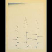 Art Deco Style Japanese Woodblock Print 3