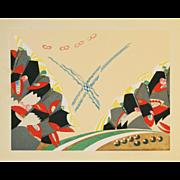 Art Deco Style Japanese Woodblock Print 4