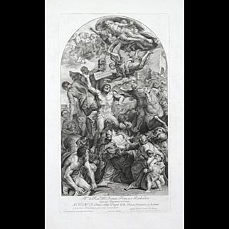 """Jll. et Reu. DD. Joanni Francisco Barbadico"" An Engraving by Lampier, Dominicas"