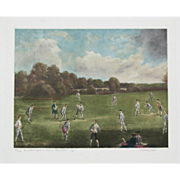 """A Cricket Match at Mary-le-Bone Fields"" Lawrence Josset Mezzotint"