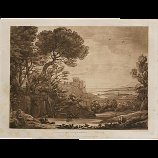 """Beauties Of Claude Lorrain Plate 17"" Engraving Lorrain, Claude"