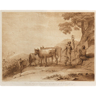"""""""From The Original Drawing In The Collection Of R.P. Knight, Esq. No. 37"""" Engraving by Lorrain, Claude"""