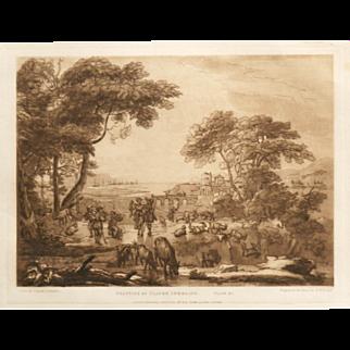 """Beauties Of Claude Lorrain Plate 21"" By  Artist Lorrain, Claude"