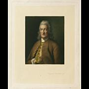 """Benjamin Franklin, Esq."" A Sanders Mezzotint"
