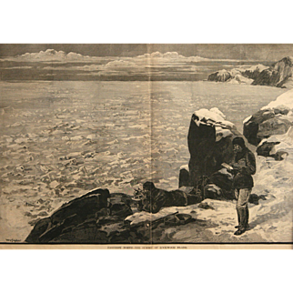 """""""Farthest North – The Summit Of Lockwood Island"""" Wood Engraving Print by Snyder, W. P."""