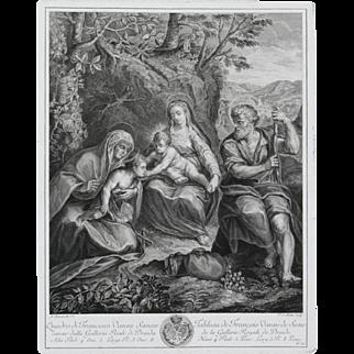 """""""Tableau de Francois Vanni de Seine"""" Engraving by Vanni Francesco"""