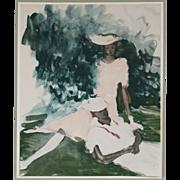 Lithograph Print by Artist Vertes, Marcel