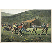"""""""Snap the Whip"""" Antique Print, Winslow Homer"""