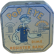 Popeye dime bank marked 1929