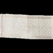 Damask Linen Towel or Table Runner