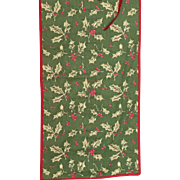 Christmas Holly Printed Cotton