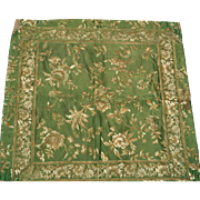 19thC French Brocade Fabric Square