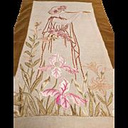 Pre-Raphaelite Embroidery Picture