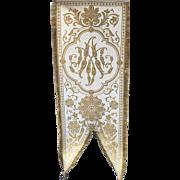 Metallic Gold Religious Banner