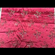 Red Silk Brocade