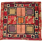 Folk Art Quilted Square - Tramp Art etc.