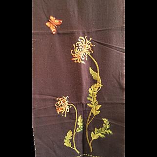 Chocolate Brown Wool Felt Curtains- 2 pair